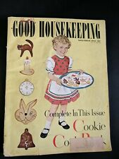 GOOD HOUSEKEEPING Magazine Nov 1951 Cookie Cookbook Mid Century Decor Fashion