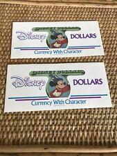 Disney Dollars Series D 1997 Mickey Sorcerer $1 Note 25th Anniversary