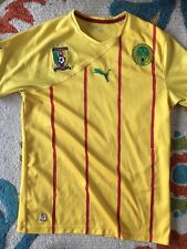 Cameroon National Team Yellow Puma Away Soccer Jersey 2010/11 Mens Sm Med Used