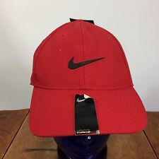 Nike Dri Fit Strapback Hat Cap NOS Deadstock Red Running Atheltic Legacy 91 VTG