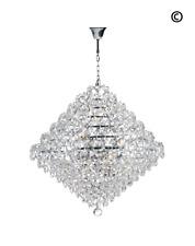 NewYork - Diamond Edge Crystal Pendant Light - 60cm