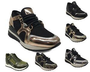 Footwear Sale Womens Lace Up Trainers Platform Fashion Walking Ladies Shoes Size
