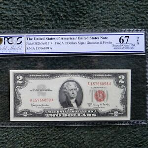 $ 2 1963-A, Legal Tender Note, PCGS 67 OPQ Superb Gem Unc, Fr#1514