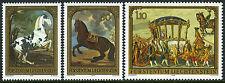 Liechtenstein 660-662, MNH.Horses:Piebald,Golden Carriage,Blk.Stallion, 1978