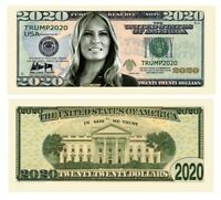 Trump 2020 Presidential First Lady Melania Money Dollar Bills Note 100 Pack