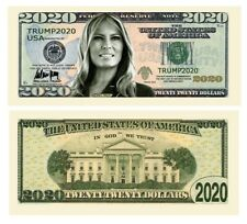Pack of 25 - Melania Trump 2020 Presidential Currency Collectible Dollar Bills