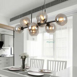 Modern 8 Lights Glass Bubble Chandelier Glass Pendant Light Living Room Fixture