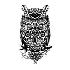 Pop Temporary Tattoo Hand Painted Owl Tattoo Stickers Waterproof Tattoo Stickers