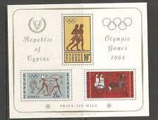 Cyprus SC # 243A Olympic Games 1964. Souvenir Sheet .MNH