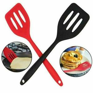Silicone Turners Egg Fish Frying Pan Scoop Spatula High Temperature H9G5