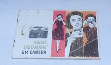 Kodak Instamatic 814 Camera Guide Owners Manual Instruction Photography Book