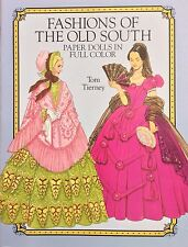 Fashions of the Old South Paper Doll Book,1989, Uncut 16 pages,Tierney