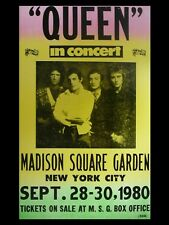 """QUEEN Madison sq gardens 16"""" x 12"""" Reproduction Concert Poster"""