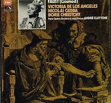 Gounod FAUST 4xLP BOX SET Stereo NICOLAI GEDDA Andre Cluytens EMI 1959 UK SLS816