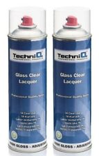 Car Clear Lacquer Spray 500ml Quality Clear Coat Gloss 2 CANS PROFESSIONAL