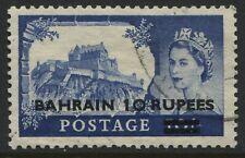Bahrain overprinted QEII 1955 10 rupees used