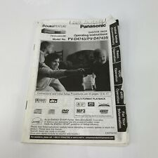 Panasonic PV-D4743 PV-D4743S VCR Owners Instruction Manual w/ Writing on 1st Pg