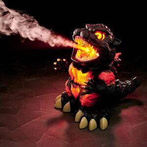 NEW Burning Godzilla Humidifier King Figure Shine LED Light Sound Effect Japan