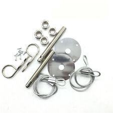 Universal Flush Hair Pin Style Latch Pin Engine Locking Hood Kit For Racing Auto