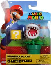 World of Nintendo ~ PIRANHA PLANT w/QUESTION BLOCK (WAVE 14) ACTION FIGURE