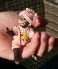 "ooak 4"" monkey /hand made,art doll/soft sculpt bear monkey"