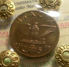IMPERO 5 CENTESIMI 1942 FIOR DI CONIO (PERIZIATO) GRANDE QUALITA' ITALY