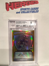 Aaron Ross 2007 Bowman Sterling Gold Rookie Autograph /1800 BGS Graded 8