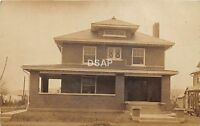 C69/ Crooksville Ohio Postcard Real Photo RPPC 1909 Home Porch View