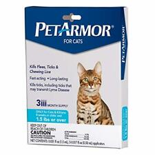 PETARMOR for Cats, Flea Tick Treatment for Cats (Over 1.5 Pounds), Includes 3