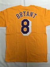Kobe Bryant #8 Adidas Gold T-Shirt Los Angeles Lakers NWT