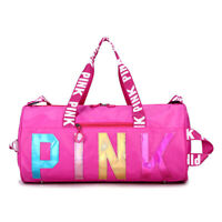 丿 Color PINK Bag Sports Gym Bag, Travel Duffel bag & Shoes Compartment for women