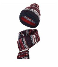 Slouch Beanie Oversized Baggy Knitted Skull Hat With Scarf