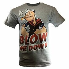 Popeye the Sailor Men's T-shirt Blow Me Down Classic Vintage Cartoon Character