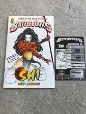 Battlebooks Shi Ultra-Rare Retailer Promo Blue Print Edition w/ Combat Card NM-