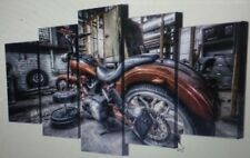 5 piece canvas art motorcycle race HD print wall pictures for living room Modern