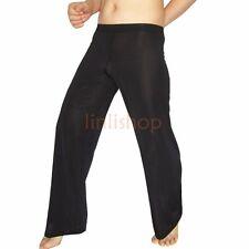 Sexy Men's Sheer Mesh Leggings Fitness Loose Long Johns Pants Bottoms Underwear
