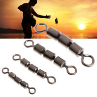 10 Pcs Stainless Steel Fishing Swivel Rings Lure Connector Accessories Bearing
