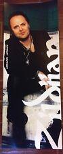 "Metallica Lars Ulrich Poster Zildjian Cardboard 43"" x 17"" James Hetfield Heavy"