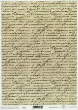 Printed Translucent Vellum Scrapbook  Paper A4 Vintage Script
