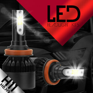 H11 CREE LED Low Beam Headlight Fog Lights Bulbs Kit High Power 6500k White Pair