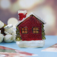Xmas theme Christmas house Micro Fairy Figurines Miniatures Garden DHFUK