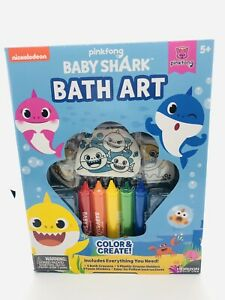 PinkFong Baby Shark Color Create Bath Art Set Crayons Stickers