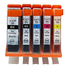 5x Ink Cartridges CLI 651 PGI 650 for Canon Pixma MG5560 MG6460 IP7260 Printer