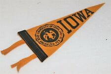 Antique Stitched Felt With Ties University of Iowa Pennant