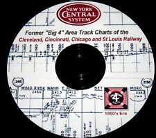 New York Central RR 1950's Era Former C,C,C & Stl Track Chart  PDF Pages on DVD