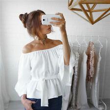 Fashion Women Ladies Summer Long Sleeve Shirt Loose Casual Blouse Tops T-Shirt