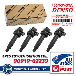 4X Ignition Coil For Toyota Corolla ZZE122R 2001-2007 MR2 1999-2005 1ZZ-FE 1.8L