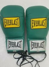 Vintage Everlast 10 oz boxing gloves model 1010 Green Laced Euc