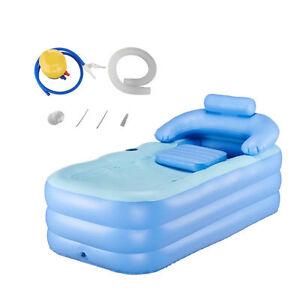 AdultPVC folding Portable bathtub fast inflatable bath tub AirPump Spa Warm!