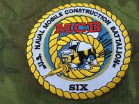 US NAVY SEABEES NAVAL MOBILE CONSTRUCTION BATTALION SIX PATCH